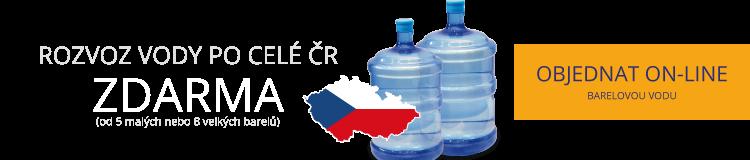 ROZVOZ VODY PO CELÉ ČR ZDARMA (od 5 malých nebo 8 velkých barelů)